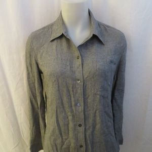 0dad3701fa2fc THEORY GRAY LONG SLEEVE BUTTON DOWN SHIRT S P